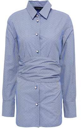 Piazza Sempione Belted Printed Cotton-poplin Shirt