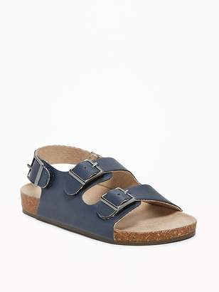 Old Navy Faux-Leather Buckled-Strap Sandals for Toddler Boys
