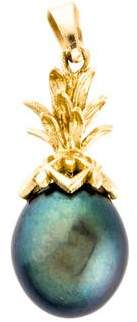 14K Pineapple Cultured Pearl Pendant