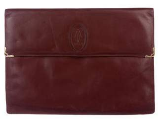 Cartier Vintage Leather Oversize Clutch