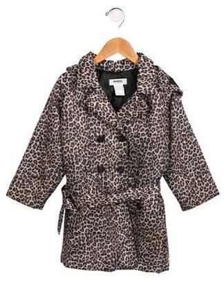 Rykiel Enfant Girls' Leopard Printed Puffer Coat