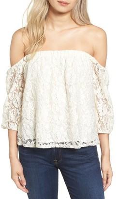 Women's Ella Moss Off The Shoulder Lace Top $158 thestylecure.com