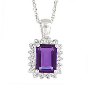 Premier Emerald Cut 1.25cttw Amethyst & Diamond