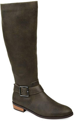 Journee Collection Womens Winona Riding Boots Stacked Heel
