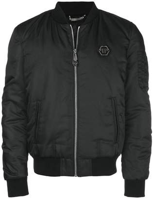 Philipp Plein skull back bomber jacket
