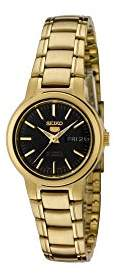 Seiko Women's SYME48 5 Automatic Dial Gold-Tone Stainless Steel Watch