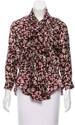 Isabel Marant Silk-Blend Abstract Top