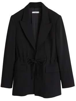 MANGO Adjustable waist blazer