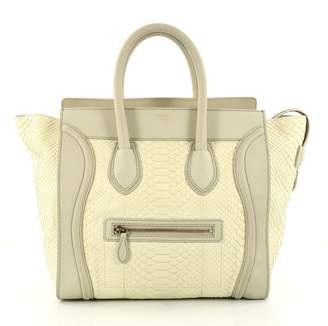 Celine Luggage python handbag