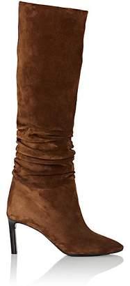 Saint Laurent Women's Mica Suede Knee-High Boots - Dk. brown