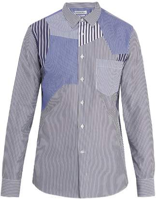 Alexander McQueen Patchwork striped cotton shirt