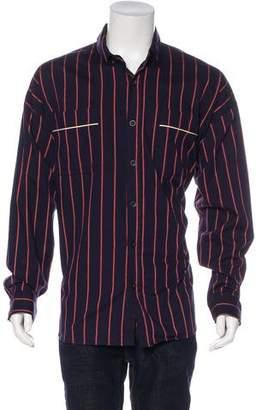 Fear Of God 2017 Oversize Striped Silk-Lined Shirt