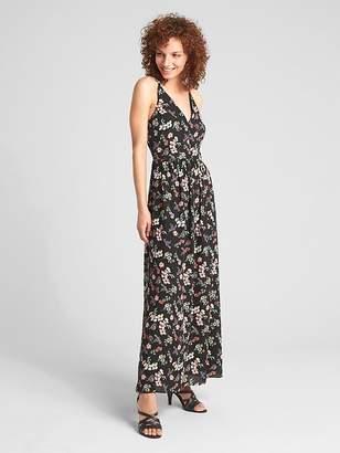 Gap Floral V-Neck Maxi Dress