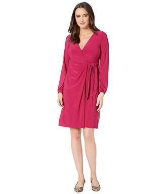 Lauren Ralph Lauren 4R Matte Jersey Joni Long Sleeve Day Dress