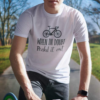 Oakdene Designs 'When In Doubt, Pedal It Out' Men's Cycling T Shirt