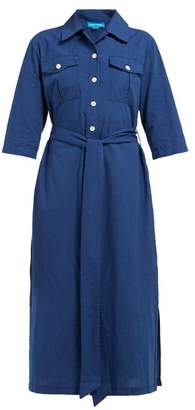 MiH Jeans Elsie Chambray Midi Shirtdress - Womens - Navy