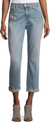 NYDJ Jewel-Trim Boyfriend Jeans