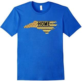 Flag North Carolina Map Home T-Shirt Funny Party Gift