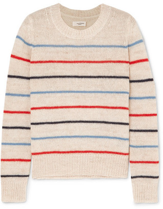 Etoile Isabel Marant Gian Striped Alpaca And Wool-blend Sweater - Ecru