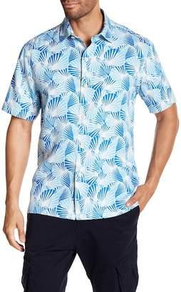 Tommy Bahama Shell We Dance Silk Short Sleeve Regular Fit Shirt
