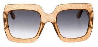 Gucci Glitter Oversize Sunglasses