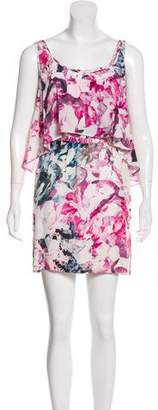 Rebecca Minkoff Silk Floral Print Mini Dress