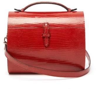 Hunting Season Gigi Lizard Leather Cross Body Bag - Womens - Dark Red