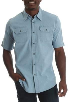 Wrangler Tall Men's Short Sleeve Woven Shirt