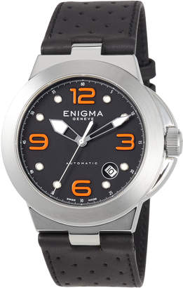 Bulgari Enigma By Gianni Automatic Watch w/ Leather Strap, Black/Orange