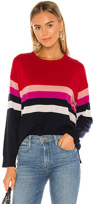 Sundry Stripes Crew Neck Sweater
