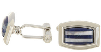 David Donahue Sterling Silver Enamel Mosaic Cuff Links $195 thestylecure.com