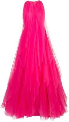 Carolina Herrera pleated tulle gown