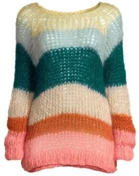 Maiami Mohair Multicolored Stripe Sweater