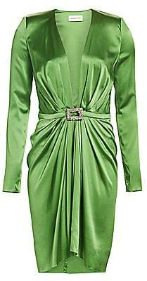 Alexandre Vauthier Women's Stretch Satin Belted Cocktail Dress