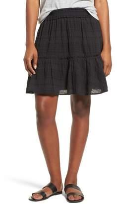 Caslon Smocked Stretch Cotton Mini Skirt (Regular & Petite)