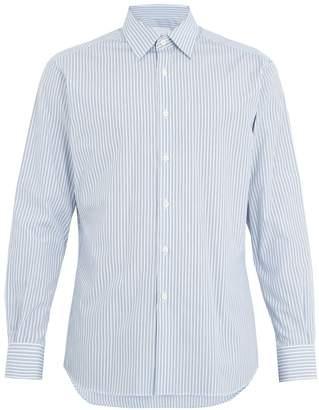 Prada Striped single-cuff cotton shirt