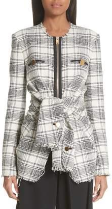 Alexander Wang Tie Front Tweed Jacket
