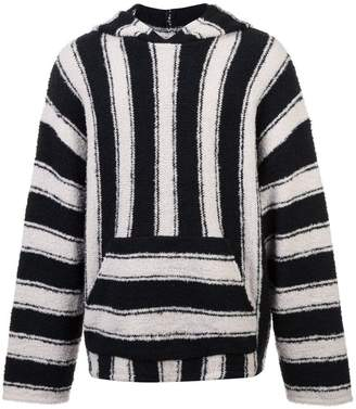 Amiri striped hooded jumper