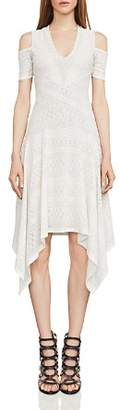 BCBGMAXAZRIA Odette Cold-Shoulder Lace Dress