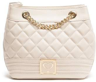 Love Moschino Ivory Quilted Bag