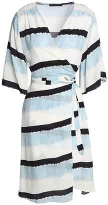 Vix Paula Hermanny Striped Crepe Wrap Dress