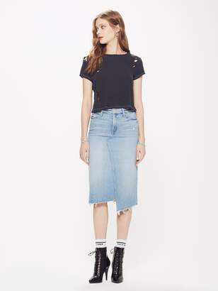 Mother The Straight A Step Midi Fray Skirt - Misbeliever