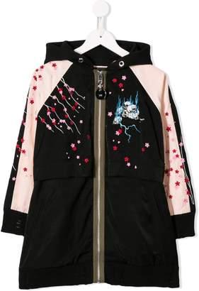 Diesel floral zipped hoodie