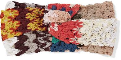 MissoniMissoni - Twisted Crochet-knit Headband - Coral