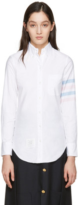 Thom Browne White Oxford Classic Shirt $570 thestylecure.com