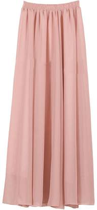 CoutureBridal Womens Summer Elastic Chiffon Maxi Skirt Bridesmaids Long Skirts