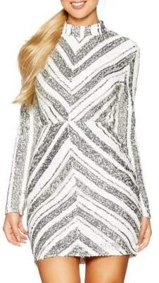 Quiz Sequin High Neck Mini Dress