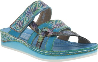 Spring Step L'Artiste by Leather Colorblock Sandal - Caiman