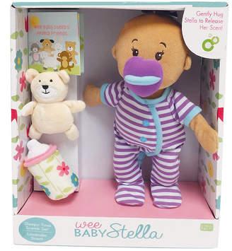 BEIGE Manhattan Toy Wee Baby Stella Sleepy Times Scent 12 Inch Soft Baby Doll Set