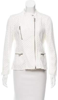 Rebecca Taylor Distressed Moto Jacket